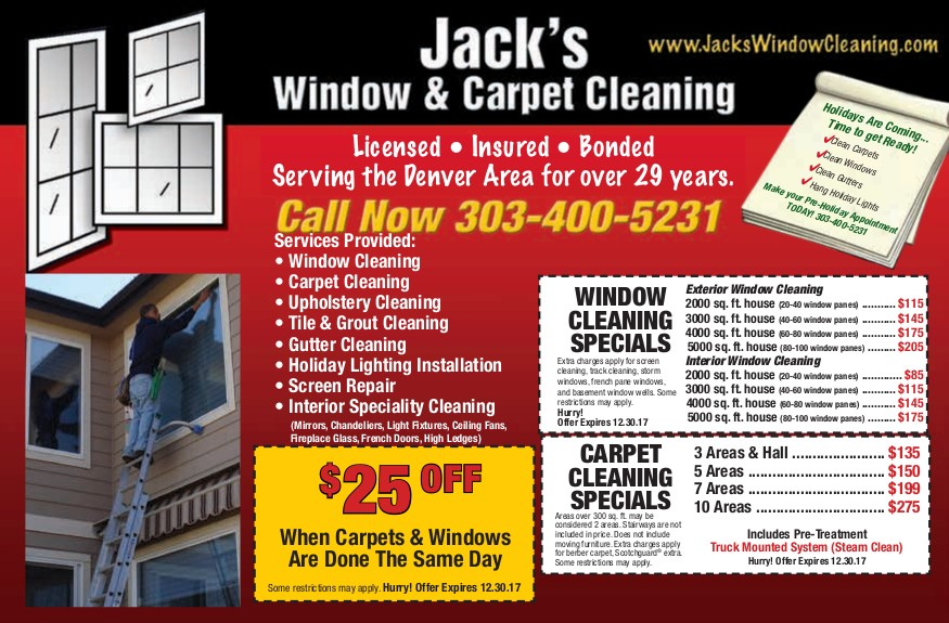 Denver Window Cleaning Specials Denver Carpet Cleaning Specials 2017