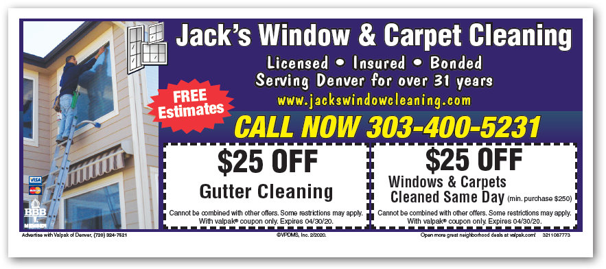 Denver Window Carpet Gutter Cleaning Specials 2020