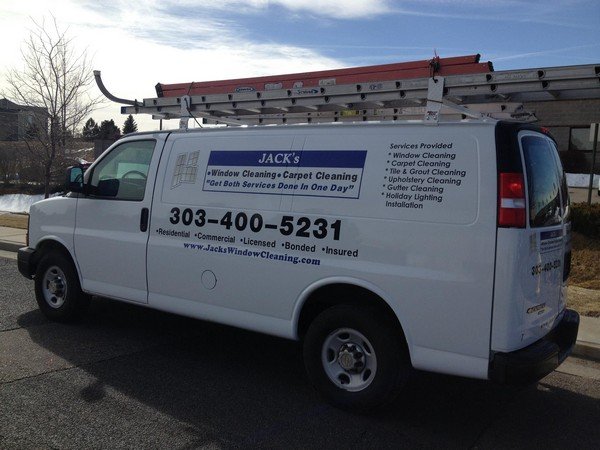 Jack's Window & Carpet Cleaning Van