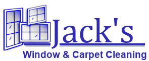 Jack's Window & Carpet Cleaning logo light